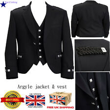 Brand New Mens Scottish Argyle kilt Jacket & Waistcoat/Vest(All Sizes Available)