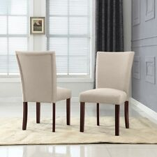 Sally Classic Upholstered Fabric Dining Side Chair (Set of 2). Huge Saving