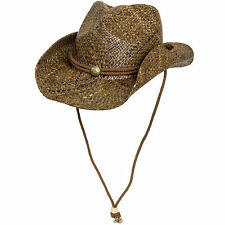 Peter Grimm Straw Round Up Authentic Cowboy Hat w/ Moisture Wicking Band