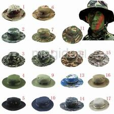 Fishing Hiking Boonie Snap Brim Military Bucket Sun Hat Cap Woodland Camo New