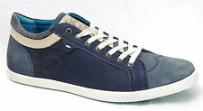 Chaussures baskets KICKERS AMASARYS homme cuir bleu marine
