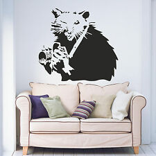 Banksy Rat Photographer Living Room Bedroom Hallway Vinyl Wall Art Sticker Decal