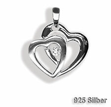 Heart Pendant with zirconia Jewelry pendant 925 Silver Chain pendant Hearts