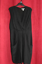 Kenneth Cole Ruched Sleeveless Silk Dress in Black RRP £110