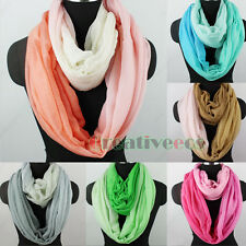 Fashion Women Gradient Color Polyester Soft Long/Infinity Scarf Ladies Scarf New