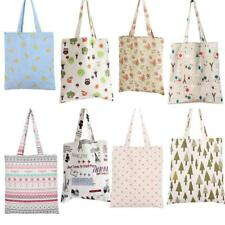 Womens Canvas Storage Pouch Reusable Shopping Bag Tote Folding Handbag Casual