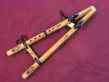 """High Spirits Flute-Twin Tail Drone Flute in """"G""""-Walnut Wood-Built in Harmony!"""
