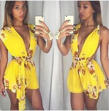 Women's Sexy Clubwear Lace Playsuit Bodycon Party Jumpsuit&Romper Trousers L108