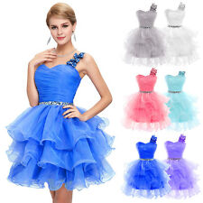 Tutu Dance Homecoming Formal Prom Dress Pageant Short Classy Bridesmaid Gown NEW