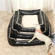 Soft Dog Bed Leather Pet Mat Waterproof Puppy House Cat Pillow Cushion S-L