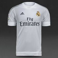 REAL MADRID HOME 2015/16  ADIDAS S/S (M,L,XL,2XL) FOOTBALL SOCCER SHIRT JERSEY