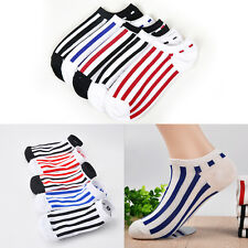 Hot 5Pairs Men Casual Stripe Sport Cotton Skidproof Low Cut Ankle Socks Loafer