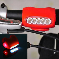Cycling Bike Bicycle Red Silicone 7 LED Frog Front Head Light Rear Warning Lamp
