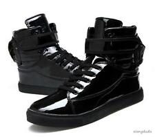 Mens Stylish High Top Sneakers Boots Lace Up Zip athletic Casual Shoes new