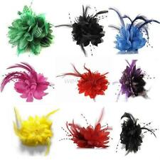 Vogue Brooch Pin Flower Feather Bead Corsage Hair Clips Fascinator Hairband Hot