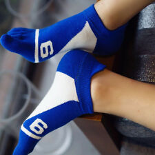 Mens Casual Five Fingers Toe Socks Colorful Cotton Boat Socks 4 Colors