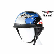 DOT APPROVED MOTORCYCLE HELMET WITH EAGLE GRAPHIC REMOVABLE VISOR