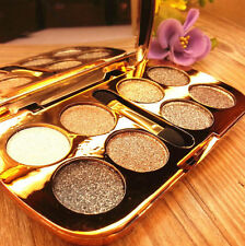 8 Colors Eyeshadow Makeup Sparkling Pro Eye Shadow Shimmer HOT Palette  Brush