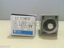 1/2/5 pcs 12/24/110/220V AH3-3 30s 60s 3min Power On Delay Timer Time Relay