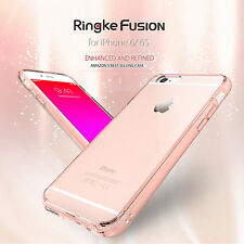 Apple iPhone 6 6s Case Ringke Fusion Slim Hard Clear View Back Dust Cap Cover