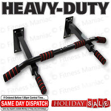 NEW Wall Mounted Pull Up Chin Up Bar Multi Function Home Gym Dip Station Bar