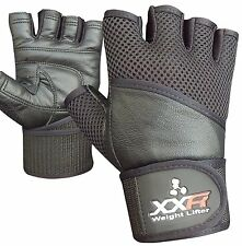 XXR COMFY Weight Lifting Gloves Leather Gloves Fitness Strengthen Training