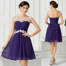 Short Mini Homecoming Dress PURPLE Formal Party Graduation Prom Bridesmaid Dress