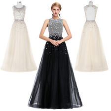 Backless Long Formal Bridesmaid Prom Dress Wedding Party Cocktail Evening Gown