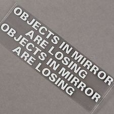 1 Pair OBJECTS IN MIRROR ARE LOSING Car JDM Vinyl Decal Rearview Sticker Decor