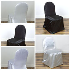 Satin Banquet CHAIR COVERS Wedding Reception Party Ceremony Supplies Wholesale