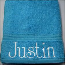 Personalised Towel, Blue Luxury Egyptian towels 600 gsm Hand/Bath/Sheet