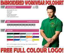 Embroidered Workwear Poloshirt. FREE FULL COLOUR LOGO OF YOUR CHOICE!