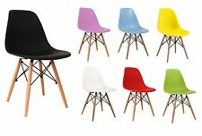 Eames Inspired Eiffel Chair Set of 4 Designer Retro style Lounge Dining Chairs
