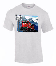 Canadian Pacific Stack Train At Morants Curve Authentic Railroad T-Shirt [42A]