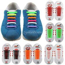 New Elastic Silicone Shoelace No Tie Shoe Laces Sneaker Trainer Kids Disability