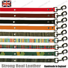 Handmade Real Leather 100% Strong Spike Dog Collar Lead W/Trigger Hook 20mm Wide