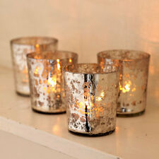 Fair Trade Antique Effect Recycled Glass Tea Light Holders (Set of Four)
