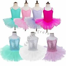 Girls Gymnastics Ballet Dress Tutu Skirt Toddler Leotard Outfits Dance Costume