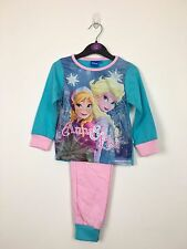 KIDS GIRLS TURQUOISE AND PINK DISNEY FROZEN PYJAMAS SET AGE 2-3 YEARS, 3-4 YEARS