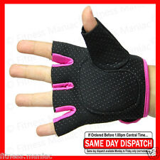 Women Weight Lifting Gloves Ladies Pro Fitness Glove Gym Sport workout Pink M/L