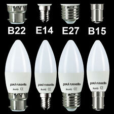 10 X HALOGEN DIMMABLE CANDLE LOW ENERGY SAVING LIGHT BULBS BC SBC ES SES LAMPS
