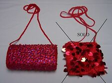 Red Hat Ladies - Red Evening Purse with Beads and Sequins - 2 Styles - U Choose