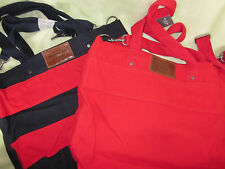 NWT Abercrombie&Fitch Canvas Shoulder Tote Bag Red CuTe!!