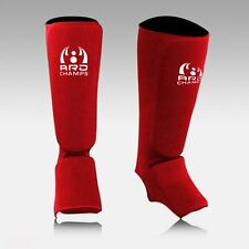 Elasticated Shin Instep Pads Shin Guards Martial Art Boxing Spar Training MMA