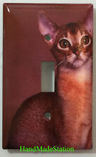 Abisinio Cat Toggle Rocker Switch Power Outlet Duplex Cover Plate Home decor