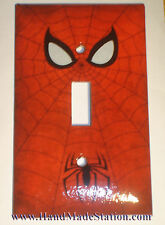 Spiderman Logo Light Switch Duplex Outlet Cover Plate Home decor