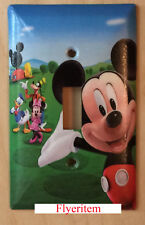 Mickey Mouse House Club Light Switch Duplex Outlet Cover Plate Home decor