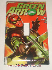 Green Arrow Comic Book Switch & Duplex Outlet Cover Plate