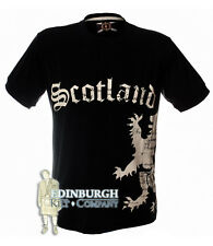 MEN'S SCOTLAND SIDE LION T-SHIRT - NAVY & SIZES XS TO XL..GREAT GIFT!