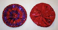 Red Hat Ladies - Sequined Beret or Tam - U Choose Color